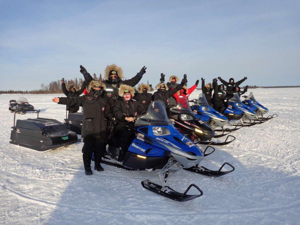 Snowmobiling at Enodah Trout Rock Lodge