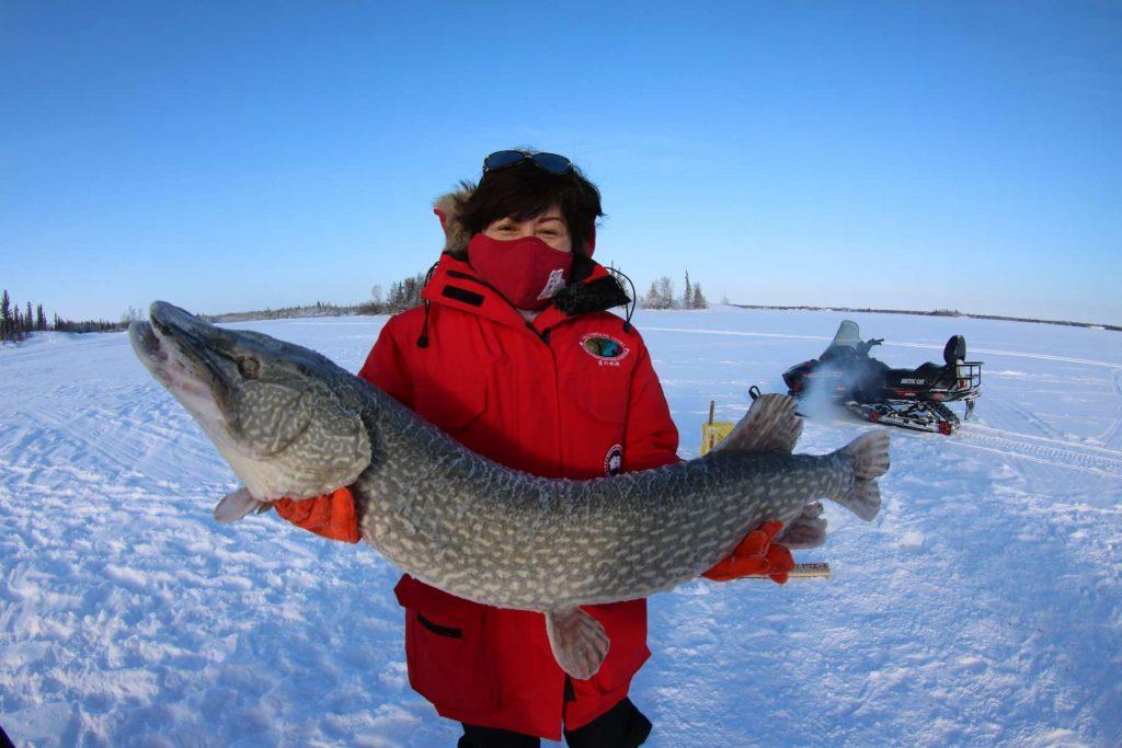 Yellowknife Ice Fishing Trout Rock Lodge